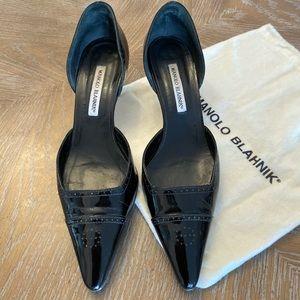 Manolo Blahnik - kitten heel black size 39.5